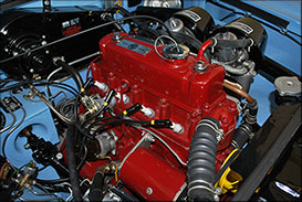 Mattborn Classics Mechanical Servicing - MGB Engine Bay